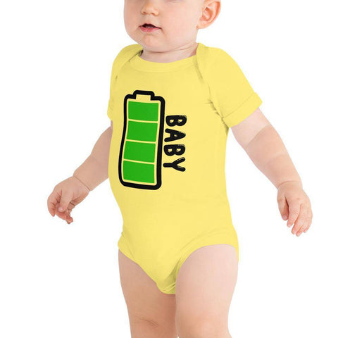 Little Bumper Baby Bodysuit Yellow / 3-6m Baby Battery Family Matching Baby Bodysuit