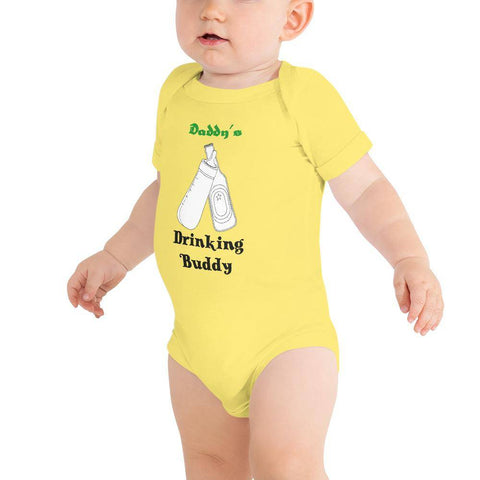 Image of Little Bumper Baby Bodysuit Yellow / 3-6m Daddy's Drinking Buddy Baby Bodysuit