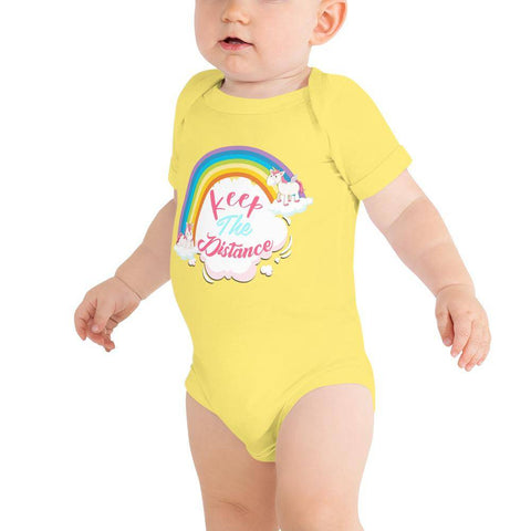 Little Bumper Baby Bodysuit Yellow / 3-6m Keep the Distance Baby Bodysuit