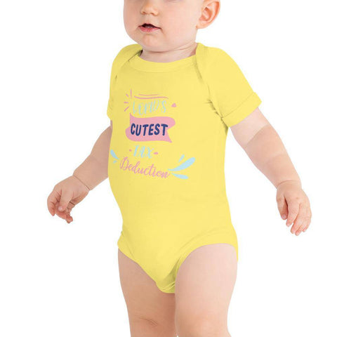 Image of Little Bumper Baby Bodysuit Yellow / 3-6m World's Cutest Tax Deduction Baby Bodysuit