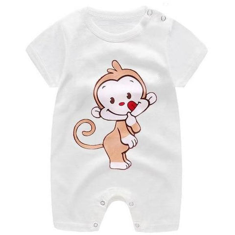 Image of Little Bumper Baby Clothes 8 / 3M-Height 55-60cm Romper Short Sleeve  Unisex Baby Clothes