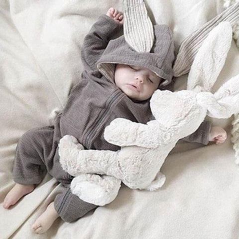 Image of Little Bumper Baby Clothes Bunny Hoodie Baby Rompers