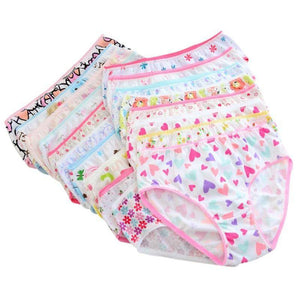 Little Bumper Baby Clothes Girls Cotton Underwear Sets (6 Pieces/Set)