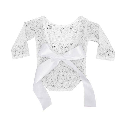 Little Bumper Baby Clothes White / United States / one size Newborn Baby Photography Lace Romper