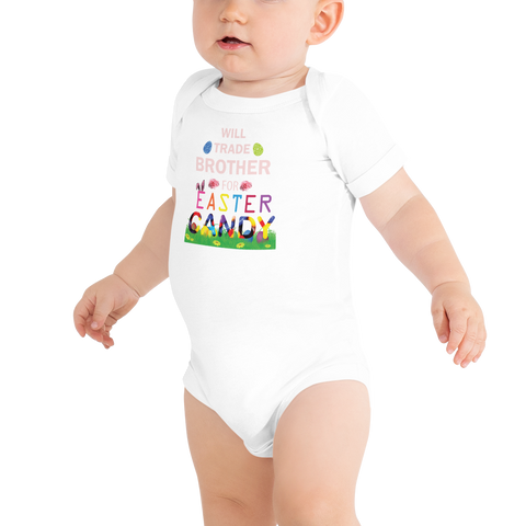 "Little Bumper Baby Clothes ""Will Trade Brother For Easter Candy"" Baby Bodysuit"