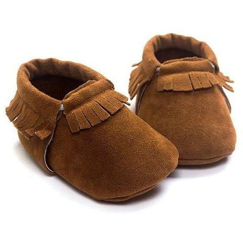 Image of Little Bumper Baby Shoes A / 3 / United States Leather Newborn Baby Moccasins Shoes