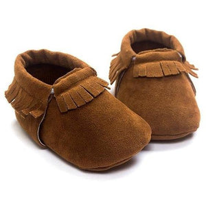 Little Bumper Baby Shoes A / 3 / United States Leather Newborn Baby Moccasins Shoes