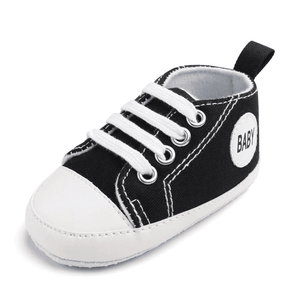 Little Bumper Baby Shoes Baby B / 0-6 Months / United States Classic Canvas Unisex Baby Soft Sole Sneakers