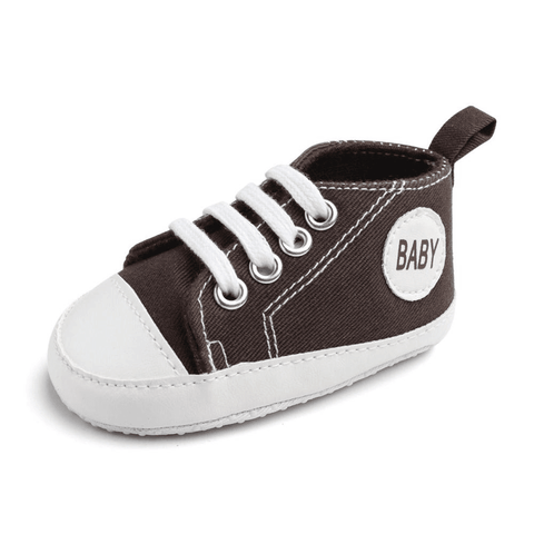Image of Little Bumper Baby Shoes Baby C / 7-12 Months / United States Classic Canvas Unisex Baby Soft Sole Sneakers
