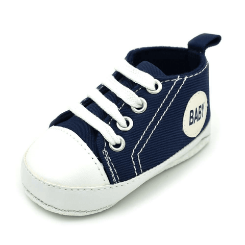 Image of Little Bumper Baby Shoes Baby DL / 13-18 Months / United States Classic Canvas Unisex Baby Soft Sole Sneakers