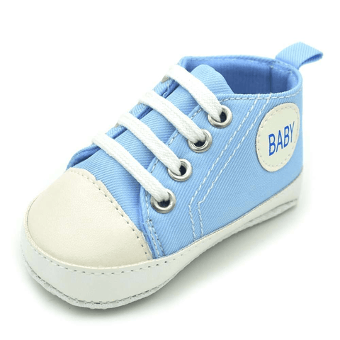 Image of Little Bumper Baby Shoes Baby L / 13-18 Months / United States Classic Canvas Unisex Baby Soft Sole Sneakers