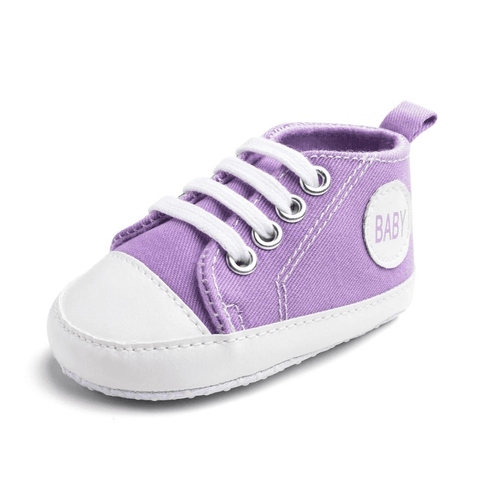 Image of Little Bumper Baby Shoes Baby Z / 13-18 Months / United States Classic Canvas Unisex Baby Soft Sole Sneakers