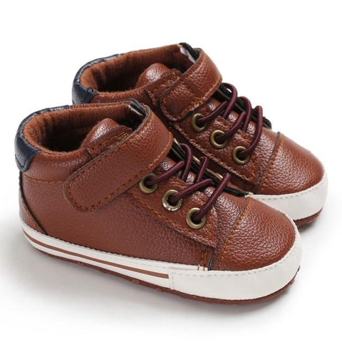 Little Bumper Baby Shoes C / 13-18 Months / United States Leather Canvas Sneakers 0-12Months