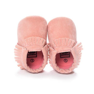Little Bumper Baby Shoes F / 3 / United States Leather Newborn Baby Moccasins Shoes