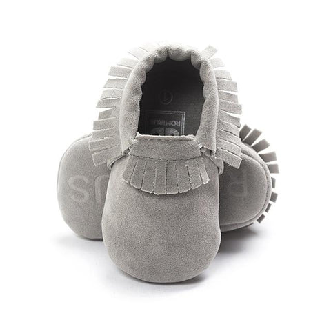 Image of Little Bumper Baby Shoes J / 3 / United States Leather Newborn Baby Moccasins Shoes