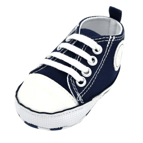 Image of Little Bumper Baby Shoes Star DL / 13-18 Months / United States Classic Canvas Unisex Baby Soft Sole Sneakers