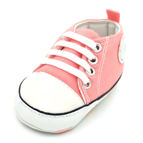 Image of Little Bumper Baby Shoes Star QP / 13-18 Months / United States Classic Canvas Unisex Baby Soft Sole Sneakers