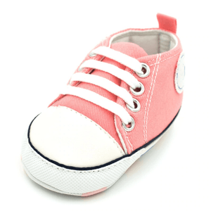 Little Bumper Baby Shoes Star QP / 13-18 Months / United States Classic Canvas Unisex Baby Soft Sole Sneakers