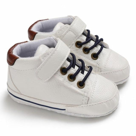 Little Bumper Baby Shoes W / 13-18 Months / United States Leather Canvas Sneakers 0-12Months
