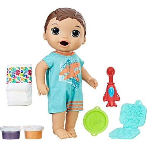 Image of Little Bumper Baby Toys Baby Alive Snackin' Luke Baby Doll