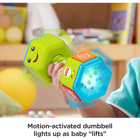 Little Bumper Baby Toys Laugh & Learn Countin' Reps Dumbbell For Babies and Toddlers ages 6-36 Months