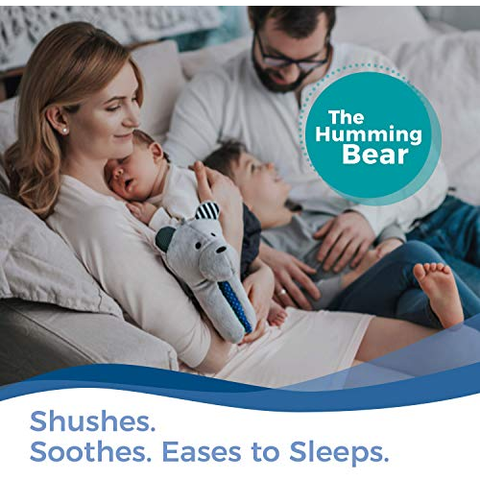 Image of Little Bumper Baby Toys Whisbear The Humming Bear Sleep Soother, Sensory Toy for Babies