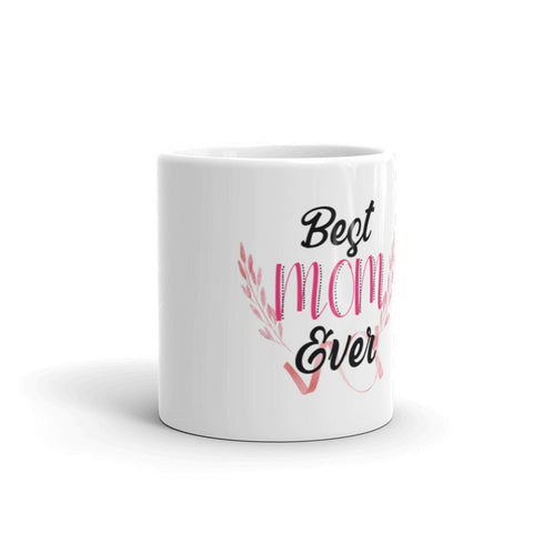 Little Bumper Best Mom Ever White glossy mug