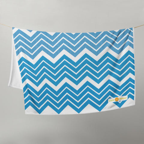 Little Bumper Blue Little Bumper Throw Blanket