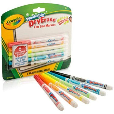 Image of Little Bumper Children Accessories Crayola Fine Line Dry Erase Markers: School Supplies