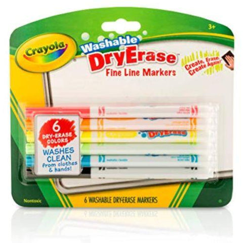 Little Bumper Children Accessories Crayola Fine Line Dry Erase Markers: School Supplies