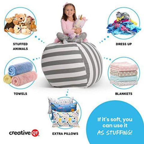 Image of Little Bumper Children Accessories Large Stuff 'n Sit Bean Bag with Toy Storage