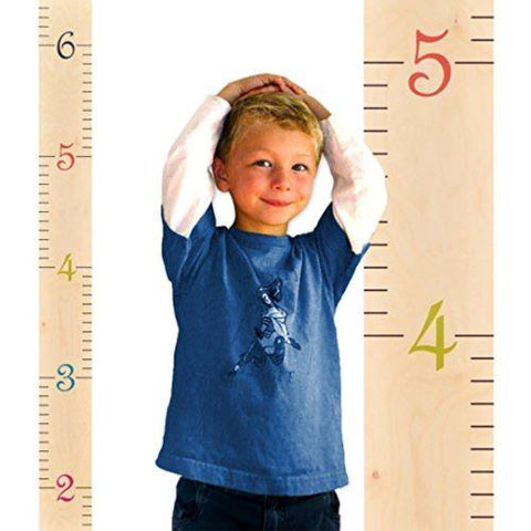 Image of Little Bumper Children Accessories Wooden Growth Chart / Height Measuring Wall Decor for Girls and Boys