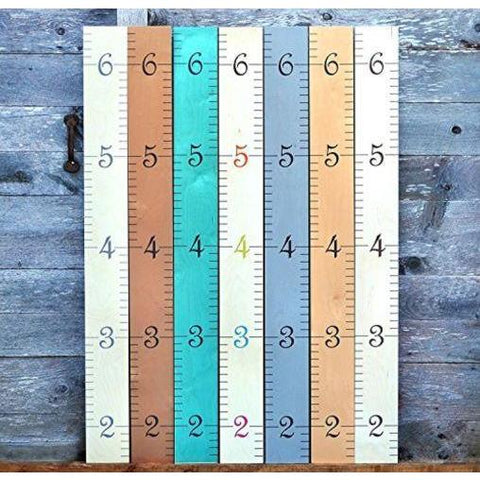 Little Bumper Children Accessories Wooden Growth Chart / Height Measuring Wall Decor for Girls and Boys