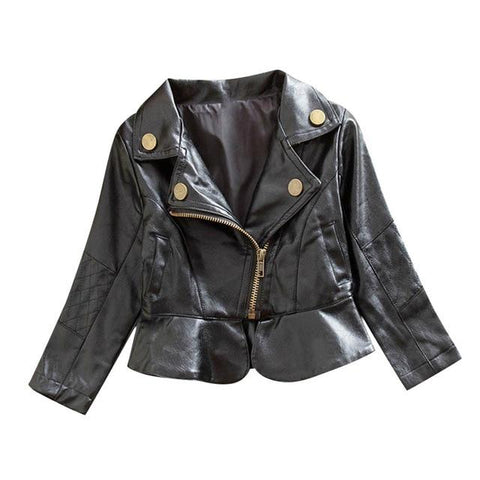 Image of Little Bumper Children Clothes B / 12M-18M / United States Leather Children Jacket