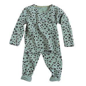 Little Bumper Children Clothes Green / 2T / United States Babies Leopard  Sleepwear Outfits Set