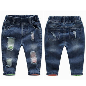 Little Bumper Children Clothes NO1 Hole Stretchy / 6T / United States Stretchy Denim Trousers for Toddlers