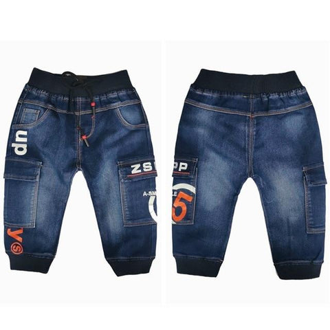 Image of Little Bumper Children Clothes NO10 Cotton Denim / 6T / United States Stretchy Denim Trousers for Toddlers