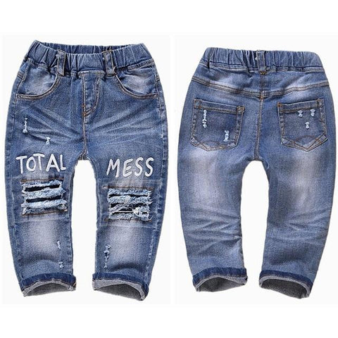 Image of Little Bumper Children Clothes NO4 Stretchy / 18M / United States Stretchy Denim Trousers for Toddlers