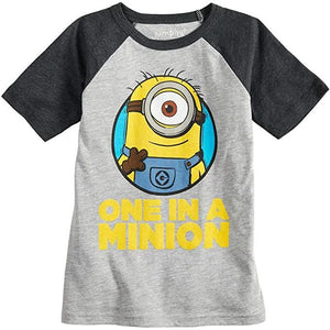 "Little Bumper Children Clothes ""One In A Minion"" Boys Tee"