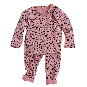Little Bumper Children Clothes Pink / 4T / United States Babies Leopard  Sleepwear Outfits Set