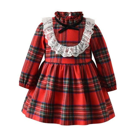 Image of Little Bumper Children Clothes Red / 5-6 Years / United States Long Sleeve Little Maid Costume for Children