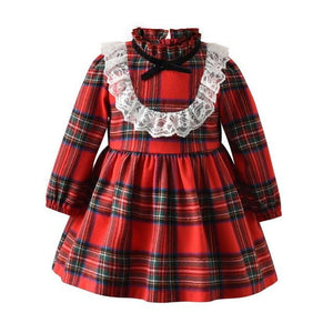 Little Bumper Children Clothes Red / 5-6 Years / United States Long Sleeve Little Maid Costume for Children
