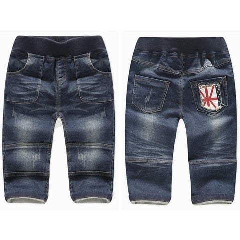 Image of Little Bumper Children Clothes Thick Loose Stretchy / 6T / United States Stretchy Denim Trousers for Toddlers