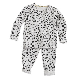 Little Bumper Children Clothes White / 5T / United States Babies Leopard  Sleepwear Outfits Set