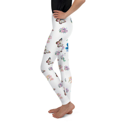 Image of Little Bumper Children Clothes Youth Floral Butterfly Leggings