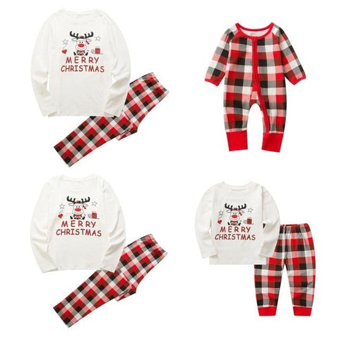 Image of Little Bumper Family Matching Clothes 2 / Mom M / United States Christmas Family Pajamas Set