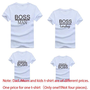 Little Bumper Family Matching Clothes family t-shirt boss2 / mother XXL (1PCS) Boss Man Lady Mini Family Matching Printed Tops