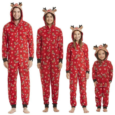 Image of Christmas Family Matching Rompers Pajamas