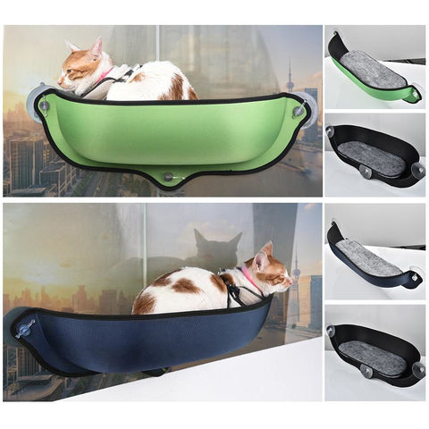 Image of Little Bumper Fur Babies Cat Window Hammock With Strong Suction Cups