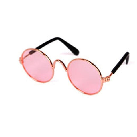 Little Bumper Fur Babies round pink / United States Cat Dog Pet Sun Glasses